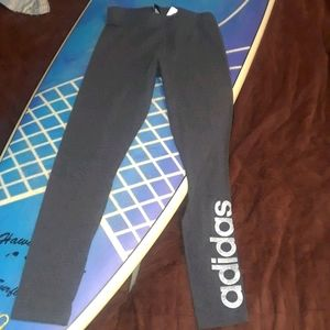 Adidas leggings with sparkly logo on the leg small